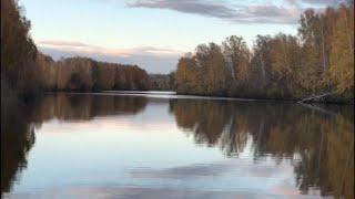 Река Карасук. Санаторий Краснозёрский. Осенний пейзаж. Природа Новосибирской области.