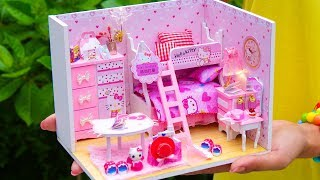 DIY Miniature Hello Kitty Dollhouse Room