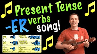 present tense er verbs made easy with a song in spanish