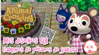 Animal Crossing New Leaf - Mis diseños QR - Caminos de pétalos de Sakura!