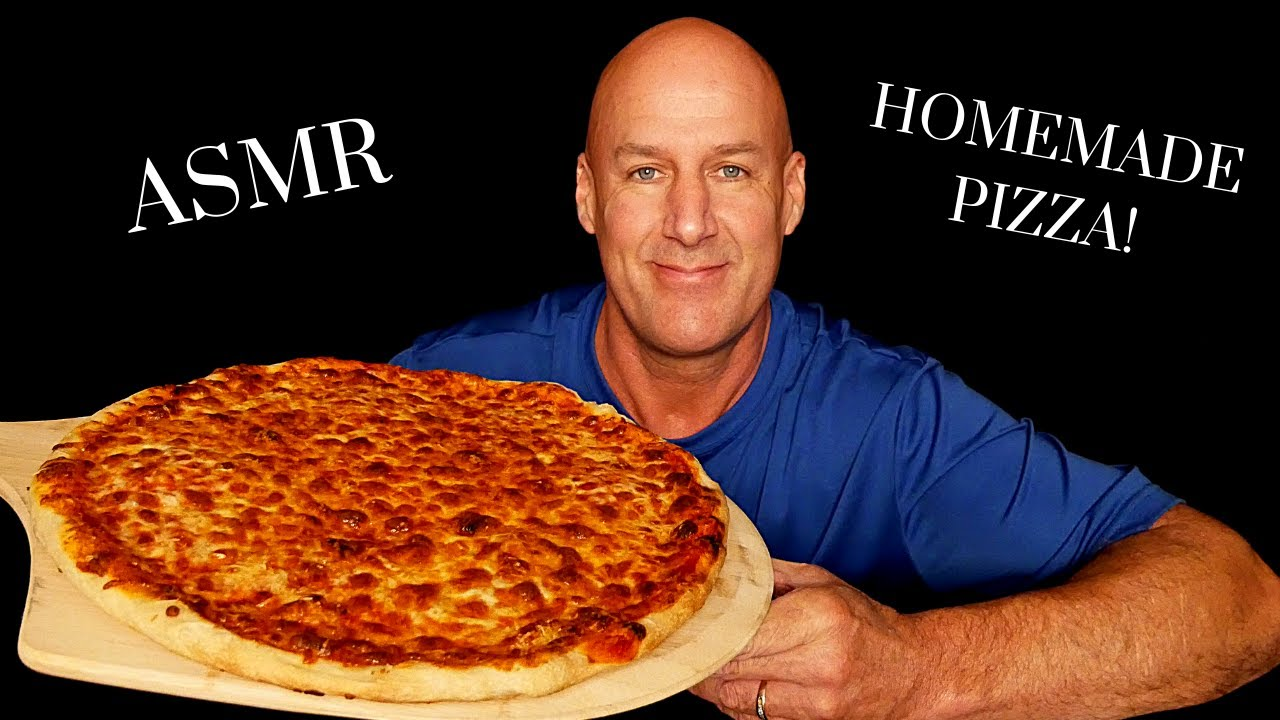 ASMR: EPIC HOMEMADE 5 CHEESE PIZZA (EATING SOUNDS) SOFT SPOKEN