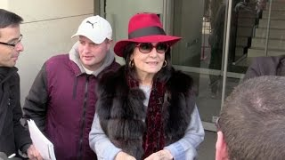 EXCLUSIVE - Music legend Nana Mouskouri at RTL Radio in Paris