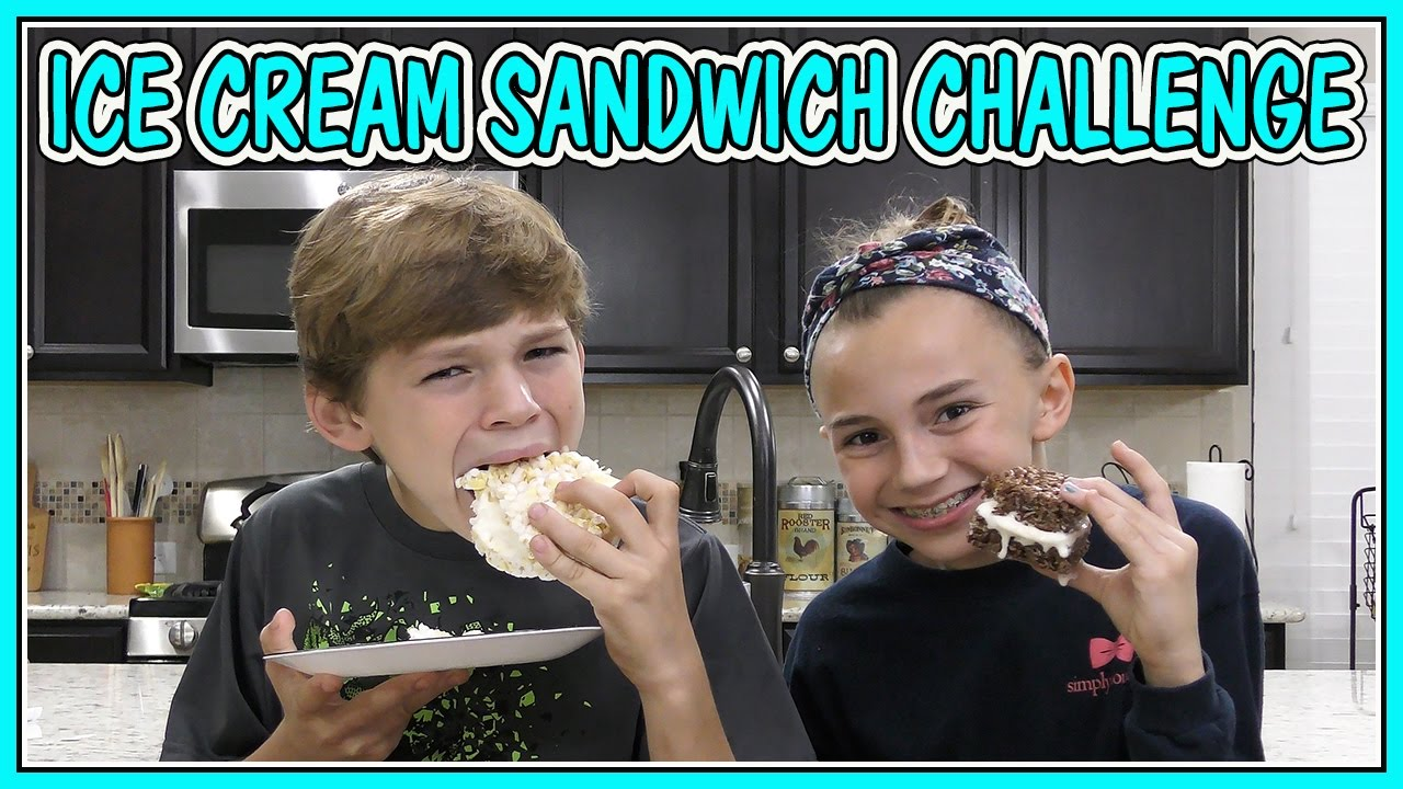 ICE CREAM SANDWICH CHALLENGE | We Are The Davises