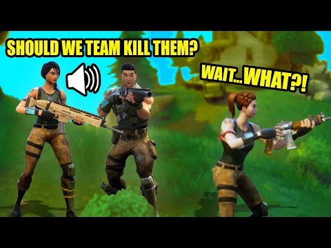 VOICE TROLLING IN SQUADS! | Fortnite Battle Royale