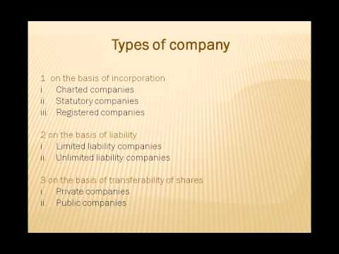 company law in hindi - type of company lecture 6