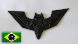 Origami: Batman Batarang / Bumerangue do Batman ( Jeremy Shafer ) - Instruções em Português PT BR