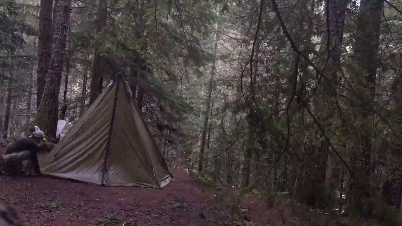 & Seek Outside 4 man tipi tent set up - YouTube