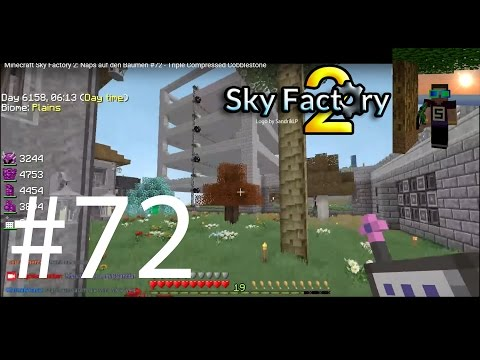 Minecraft Sky Factory 2: Naps auf den Bäumen #72 - Triple Compressed Cobblestone
