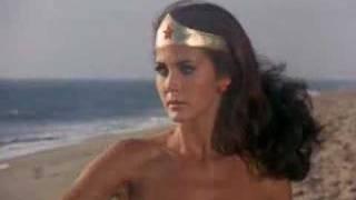 Wonder Woman Using Her Tiara as a Boomerang