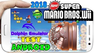 New Super Mario Bros de Nintendo Wii Test 2018 en Galaxy S8 Plus Snapdragon 835 Dolphin 5.0