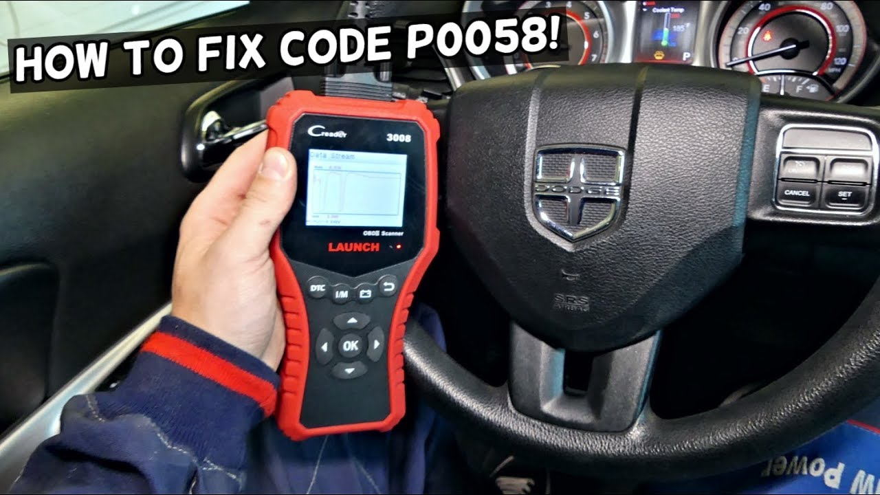 Code P0058 Oxygen Sensor Heater Control Circuit High Bank