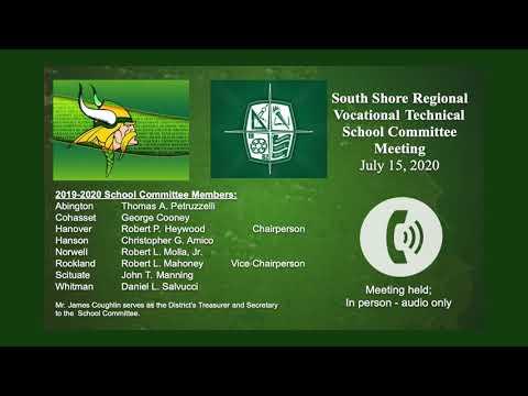 SSVT School Committee; July 15, 2020
