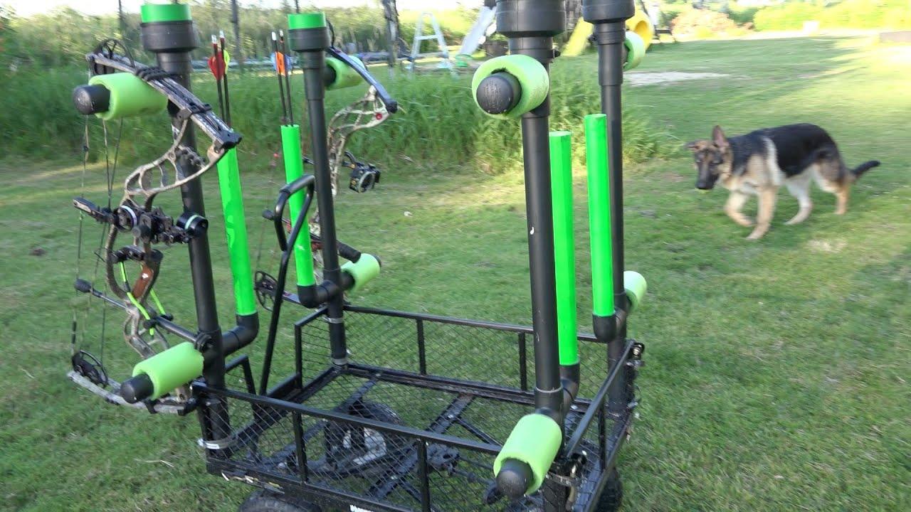 DIY Backyard bow holder - YouTube