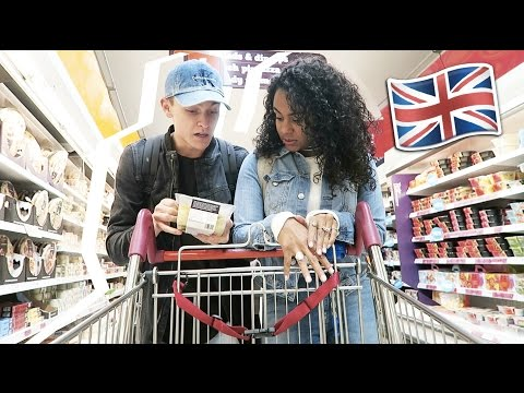 GROCERY SHOPPING IN A BRITISH SUPERMARKET ??