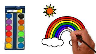 🌈 How to Draw and Color Rainbow🌈 Super Coloring Pages🌈 Learn Color for Kids🌈 Disney Kids Panel🌈