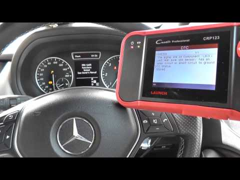 Mercedes Benz B Class W246 ABS EBD ESP Warning Diagnose & Reset Launch CRP123