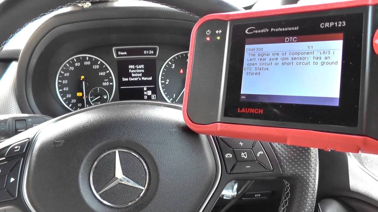 Mercedes Benz B Class W246 ABS EBD ESP Warning Diagnose ...