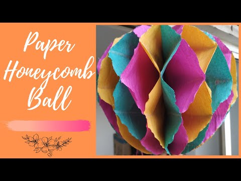   DIY How To Make A Beautiful Paper Honeycomb Ball    Shradz Happy Place   