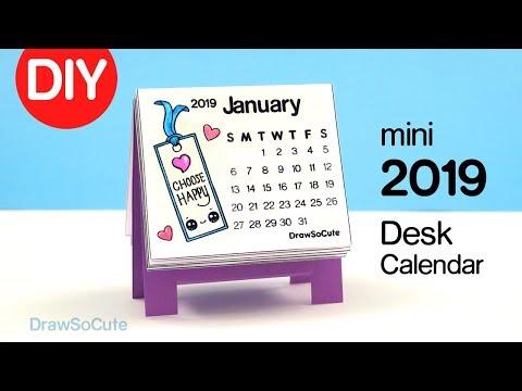 How to Make a 2019 mini Calendar | Easy DIY Paper Craft