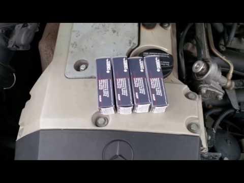 Wechsel Zündkerzen Mercedes Benz CLK 200 M111 C208 W208 MB 136 PS