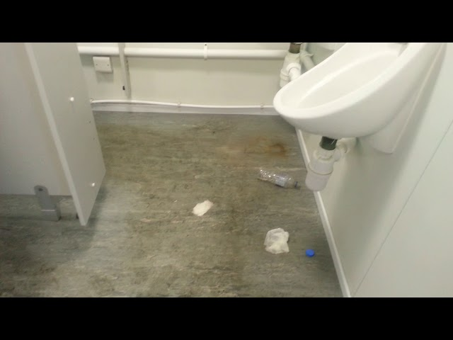 Awful Toilets in Gatwick Waiting Area