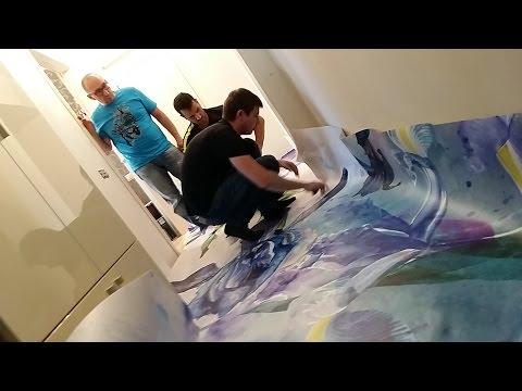 Полюшко. Наливные полы 3D с цветами под акварель (3Д полы Ирисы) ремонт пола
