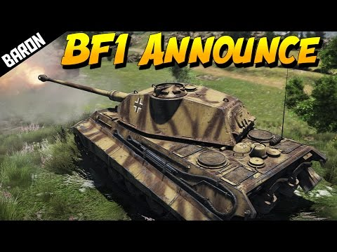 Battlefield 1 Acquired, Requesting Fire Support (War Thunder Tanks Gameplay)