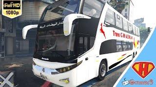 استعراض حافلات الغزالة الرباط - الدار البيضاء في لعبة حرامية السيارات 5 Grand Theft Auto V PC