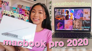 UNBOXING + CUSTOMIZING MY NEW 13'' MACBOOK PRO 2020 ⭐️