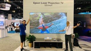 Epson LS500 120 Inch & 100 TV?!? Laser 4k projector CEDIA 2019