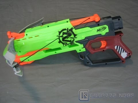 [REVIEW] Nerf Zombie Strike Crossfire Bow Review, Unboxing, & Firing Test