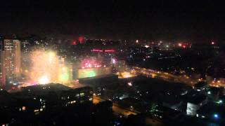 2012 Beijing Fireworks on Chinese (Lunar) New Years Eve! (sky view)