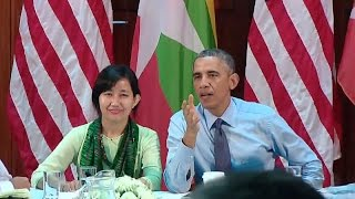President Obama Speaks After a Civil Society Roundtable in Burma