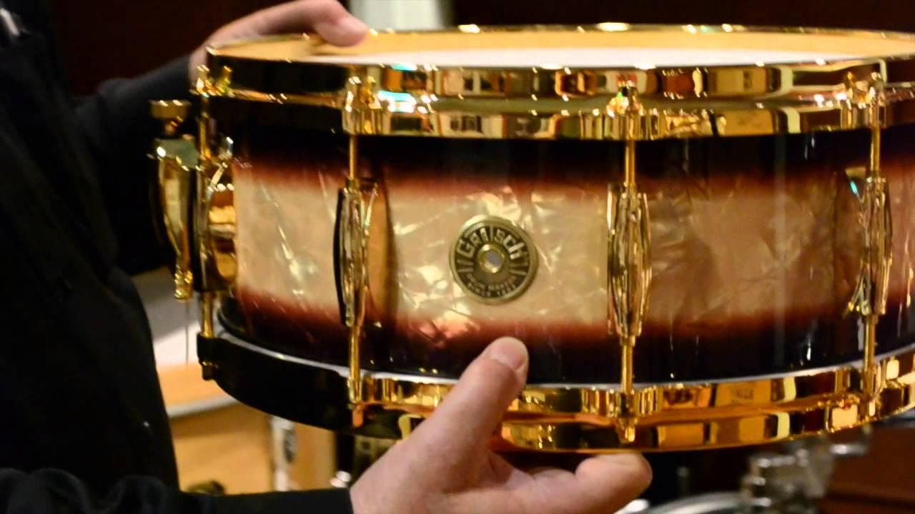 steve maxwell vintage drums gretsch gold hardware drum sets 10 24 14 youtube. Black Bedroom Furniture Sets. Home Design Ideas