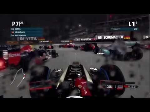 F1 2012 Game - Marina Bay, Singapore Grand Prix HD [No Commentary]