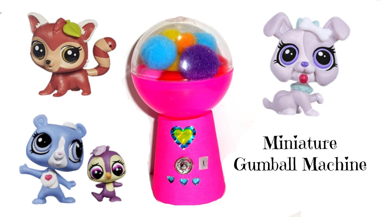 Miniature gumball machine diy lps crafts doll stuff youtube ccuart Choice Image
