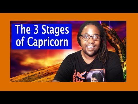 The 3 Stages Of Capricorn: The Goat, The Sea Goat, The Mountain Goat [Lamarr Townsend Tarot]
