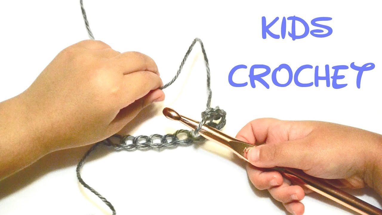 Teach Your Kid To Crochet a Chain| 4 -6 years old | Crochet for Beginners