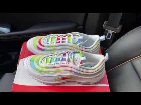 champú Patológico Venta anticipada  Nike Air Max 97 Tie Dye Chicago shoes - YouTube