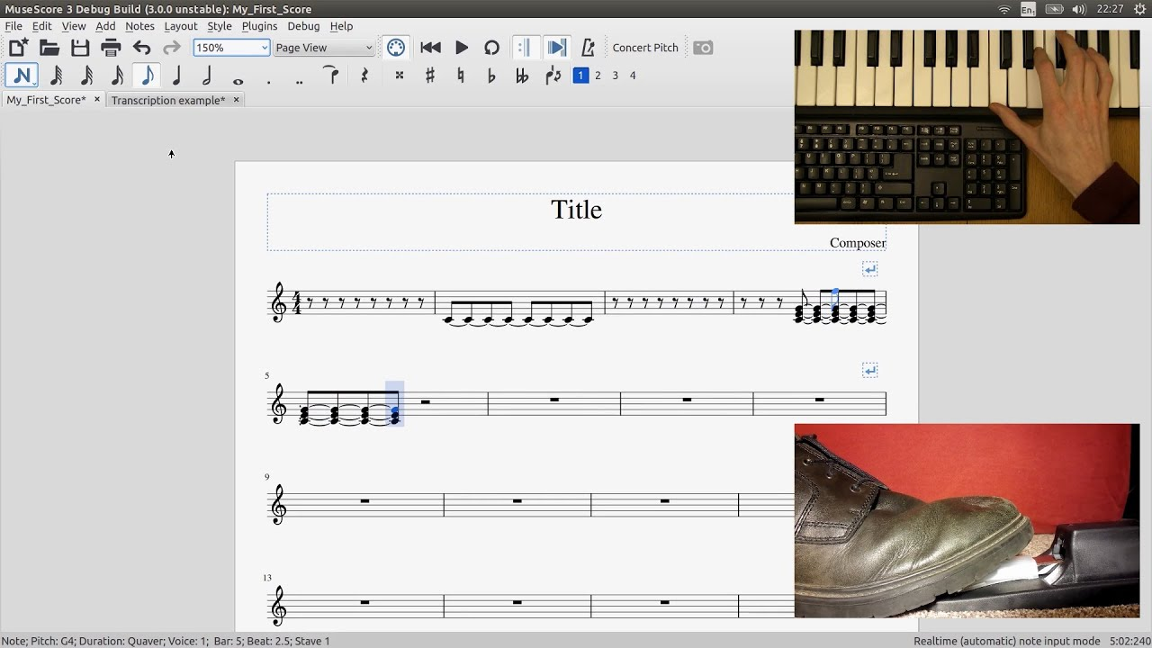 GSoC with MuseScore - First steps towards new note entry modes