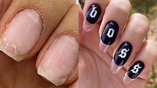 ПОДРОБНОЕ наращивание Мои самые красивые ногти Прозрачные ногти поэтапно Маникюр