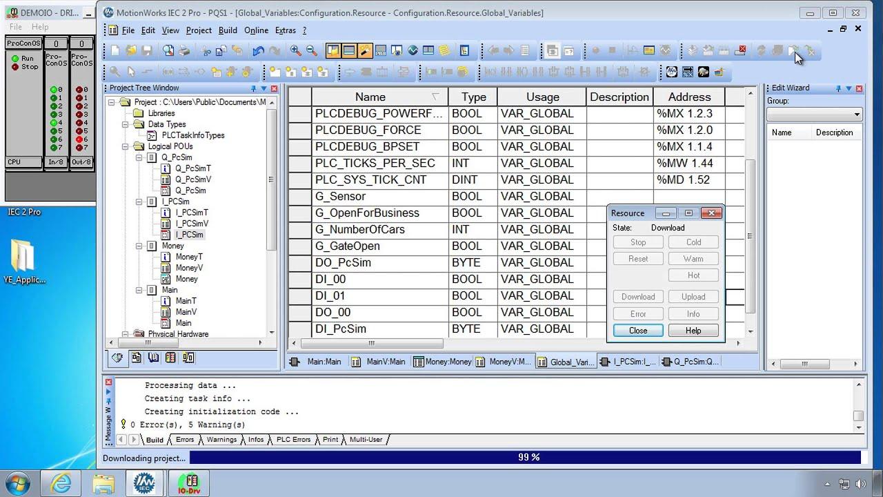 2 5 Using I/O Part 2 (IEC 61131-3 Basics with MotionWorks IEC)
