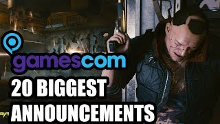 Top 20 BIGGEST Announcements At Gamescom 2018