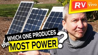 110 Watt SUNPOWER Flexible Solar Panel vs HQST and RENOGY (Testing and Review)