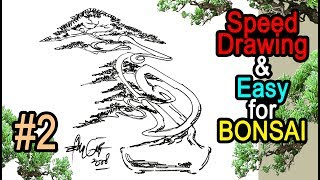 Speed Drawing for Bonsai Shaping #2 by Tedy Boy of Indonesia