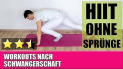 HIIT Workout ohne Sprünge   Rückbildungs Workout   Rectusdiastase Übungen   Maike Droste
