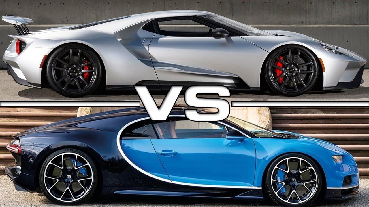 2017 ford gt vs 2017 bugatti chiron youtube. Black Bedroom Furniture Sets. Home Design Ideas