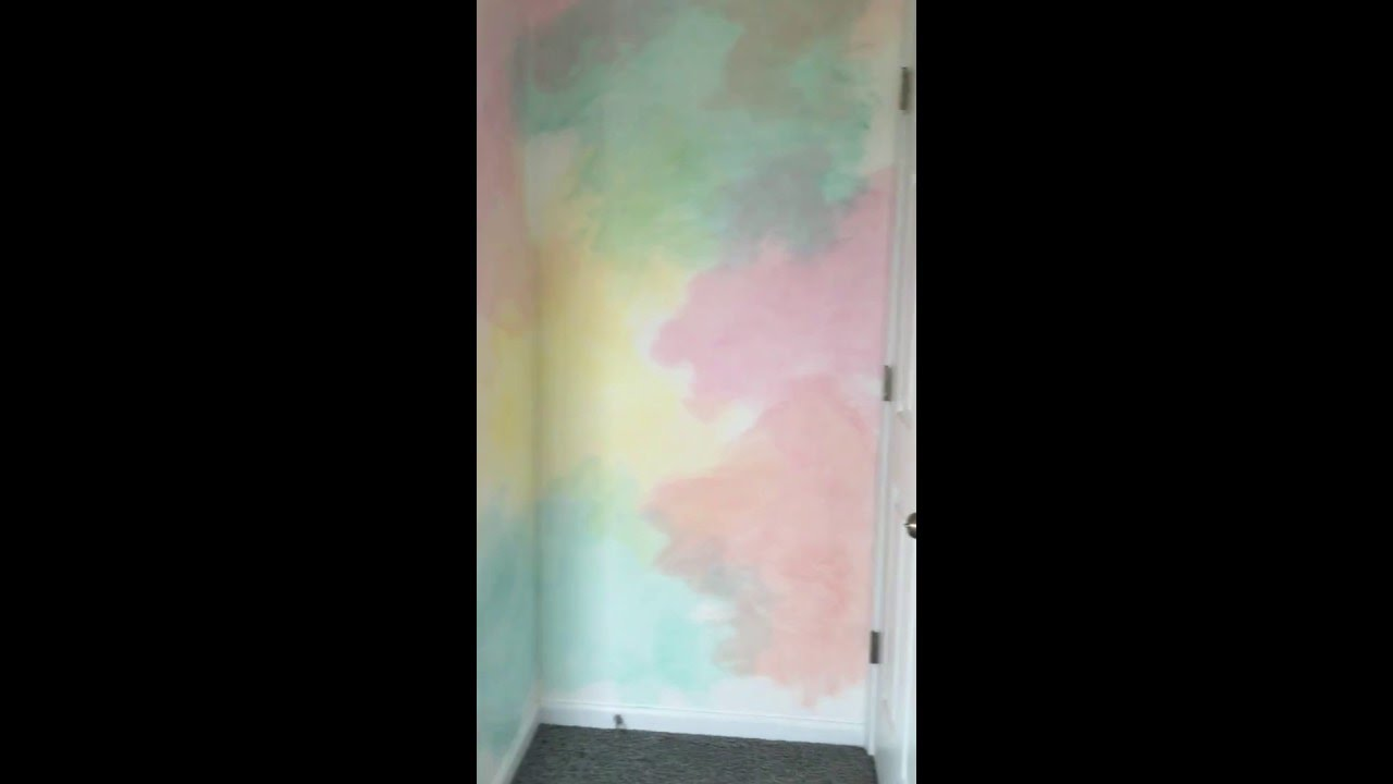 Ombre technique supplies and tips from sherwin williams - Watercolor Walls Paint Technique Room Tour Youtube