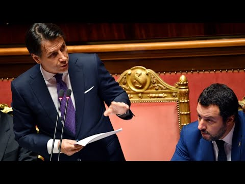 Italy's senate weighs no-confidence vote against government