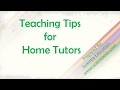 Teaching Tips For Home Tutors
